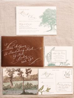 tree, wedding ideas, font styles, wedding invitations, english manor, envelop, english countryside, diy wedding, outdoor weddings