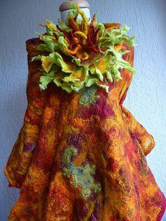 nuno felted scarf, lizards | Flickr - Photo Sharing!