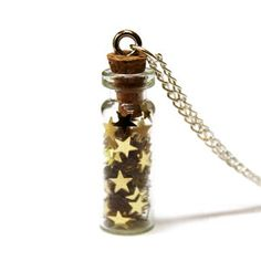 Bottled Gold Stars Necklace, $29, now featured on Fab.