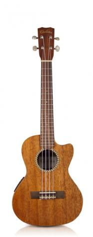 Cordoba 20TM-CE Ukulele. I wanted to learn to play the ukulele. I went with a tenor on account of my big hands. I haven't played it amplified yet, but it's a ton of fun playing acoustic. Truly a very beautiful instrument made by Cordoba guitars.