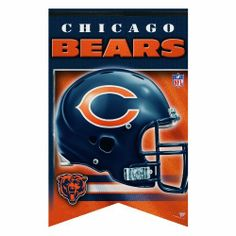 """NFL Chicago Bears Premium Felt Banner 17-by-26 by WinCraft. Save 9 Off!. $16.38. Vibrant Colors. Made in USA. Perfect for the #1 fan. Wrinkle free. Finish off your favorite room in style with this NFL® premium banner from WinCraft™. Featuring a soft felt construction, it is durable enough to """"roll it and go."""" It also comes decorated with colorful graphics."""