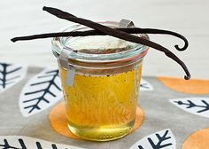 DIY Homemade Vanilla Syrup :: So-so good!!!  But I made it with 1 cup water, 1-1/2 cups sugar, and a vanilla bean.  It is perfect!!!  (Let it simmer for 10 minutes before straining) (I think the vanilla bean could be used for a double or triple batch just fine!)