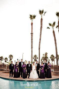 Huntington Beach, CA   Surf City, USA   The Waterfront Beach Resort, A Hilton Hotel   Pool Deck   Bridal Party