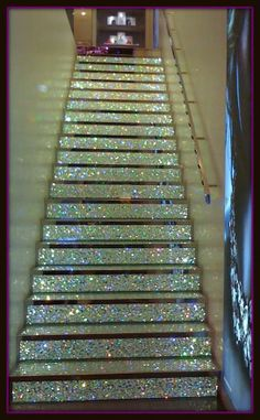 Glitter Stairs at a Swarvoski Shop in Paris, France