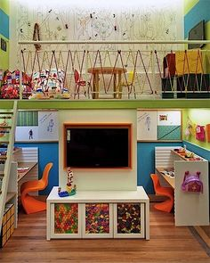 #preschool age #homeschool room #dreamy (lots of fun learning areas, centers and spaces)~love the loft area idea