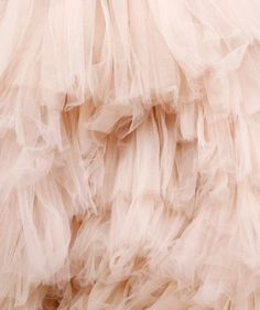 Pink ruffled tulle..