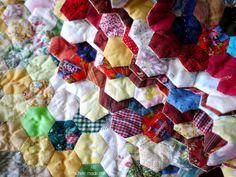 hexagon quilt, diy hexagon, quilt finish
