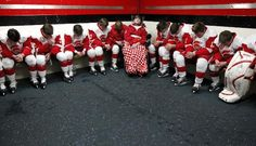 Jack and teammates bowed their heads in prayer. http://www.startribune.com/sports/preps/140244473.html