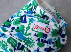 Ahoy Sailor One-Size Fitted Diaper by thegoodmama.com, via Flickr