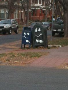Mailboxes #StreetArt