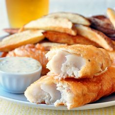 Super Crispy Fish and Chips - what's the secret to a super crispy fish batter? This super simple recipe has it.