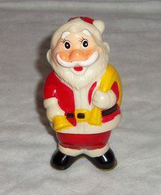 Vintage Santa Claus Collectible ~ Wind-Up Santa Claus Christmas Toy