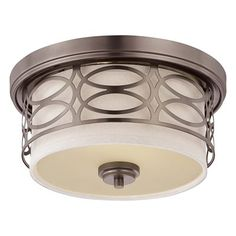Entryway - Nuvo Lighting 60-4 2 Light Harlow Flush Mount Ceiling Light - Lighting Universe - $116