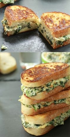 Spinach and Artichoke Melts - Top Recipes of All time - http://toprecipesmagazine.com/spinach-and-artichoke-melts-top-recipes-of-all-time/