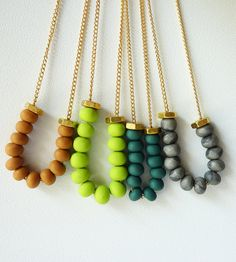 polymer clay necklaces!!