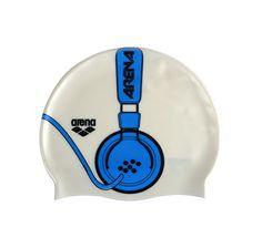 headphones swim cap, this is pretty cool actually hahaha