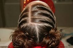 Twisty girls hair