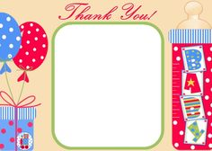 lovely way to say thank you to the guests at a baby shower this cards