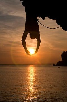 Forced perspective- catching the sun