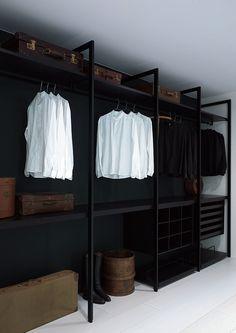 men's wardrobe, interior design, closet designs, man closet, bedroom closets