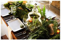 Eco-forest tablescape