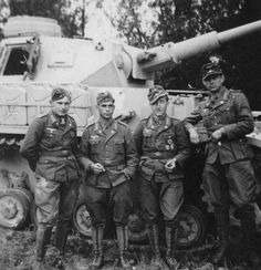 German Panzer Officers with a Pz.Kpfw. IV on the background. 1942