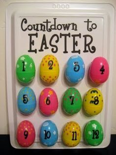 Easter Countdown - list of activity ideas - do one each day!