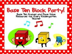 $3.00 Base Ten Resources for Kindergarten Teachers