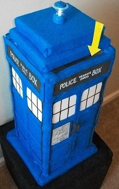 The CARDIS: Dr. Who TARDIS Wedding Card Box. This would look great in your home after the wedding too! #dr who #tardis #wedding #geek #nerd