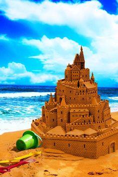 sandcastle on the beach <3