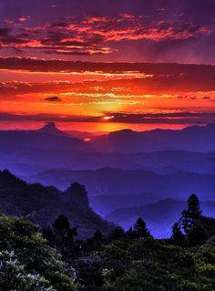 Incredible mountain sunset.
