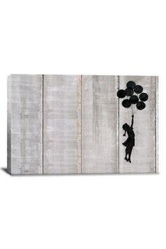 Banksy Flying Balloons Girl (Canvas Print)