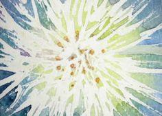 Dandelion Puffball Watercolor ACEO