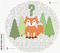 hancock's house of happy: What Does the Fox Say? This Crafty Woodland Cross Stitch Chart May Be Able to Tell You