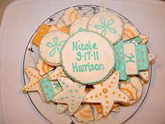 beach cookies for a bridal shower