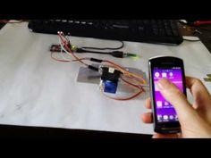 IOIO-OTG ServoControl robot head - YouTube