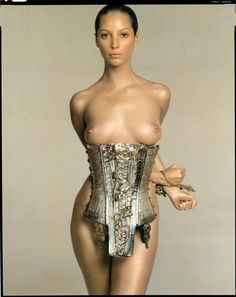 soooper dooper, richard avedon, christy turlington, art, pirelli calendar, corset, christi turlington, supermodel rule, photography