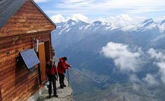 The Solvay hutte, Switzerland. What a view!    #mountaineering #climbing #Switzerland