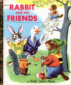 Rabbit & His Friends, Richard Scarry, 1953- Cover 1982 Reissue...is that a platypus on the tightrope?
