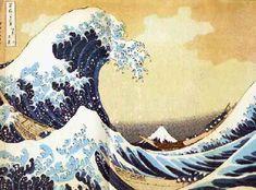 Katsushika Hokusai's The Great Wave = great block printing artist