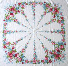 vintage tablecloth