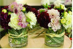Read: How to Make Simple Mini Thanksgiving Flower Arrangements - Modern small dahlia arrangements .#diyflowers #mini #flowerarrangements