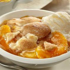 vanilla peach, peach cobbler