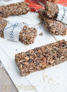 Toasted Granola Bars with Quinoa, Chia, and Flax Seeds