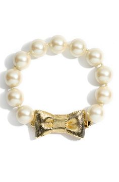 kate spade new york 'all wrapped up' glass pearl bracelet   Nordstrom