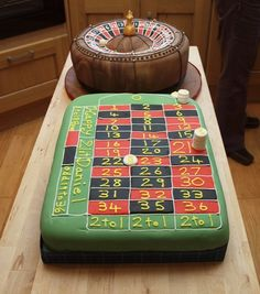 Casino roulette wheel cake by cakes from the sweetest thing
