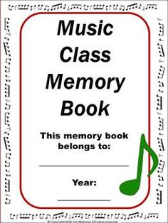 MY MUSIC CLASS MEMORY BOOK is an interactive memory book for the end of the year! $