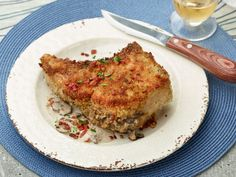 Idea for Father's Day: Guy's Stuffed Double-Cut Pork Loin Chops!