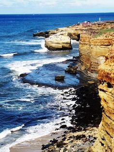 the coast in san diego, california <3