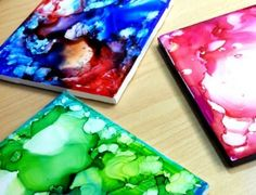 10 Cool DIY Crafts for Teens - watercolor coasters